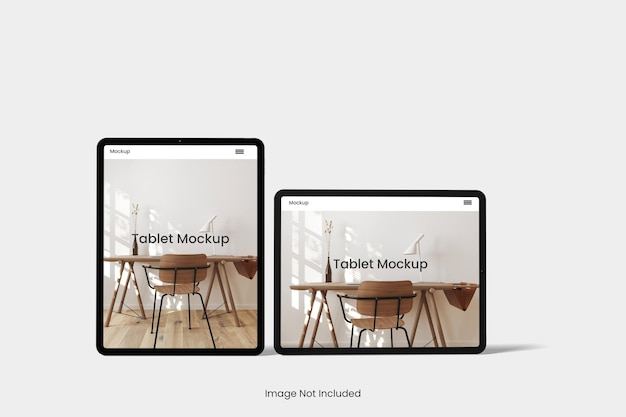 Tablet-mockup-design isoliert