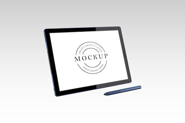 Tablet-modell-design isoliert