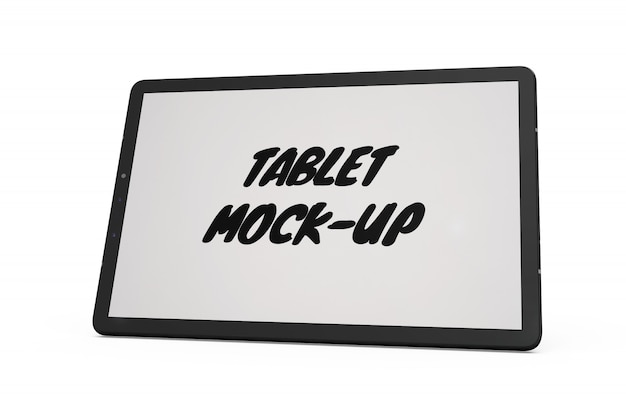 Tablet-modell isoliert