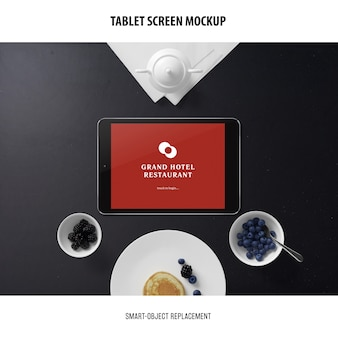 Tablet screen mockup