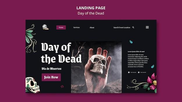 Tag der toten landingpage-vorlage