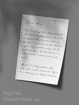 Tagebuch papiermodell