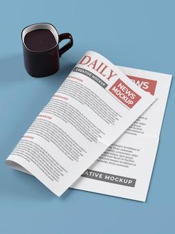 Tageszeitung mockup-vorlage