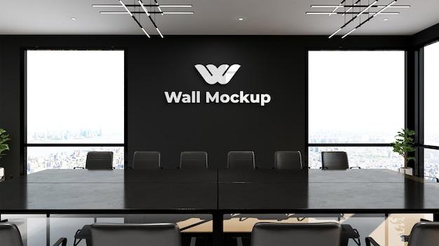 Tagungsraum des modernen designs mit schwarzem wandmodell