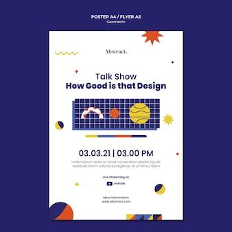 Talkshow poster vorlage