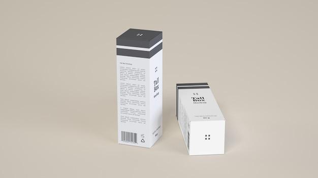Tall box mockup