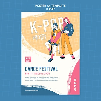 Tanzfestival-plakatschablone