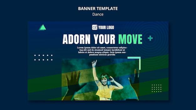 Tanzkonzept banner vorlage