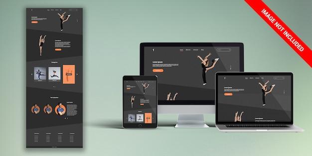 Tanzsaal webs design psd