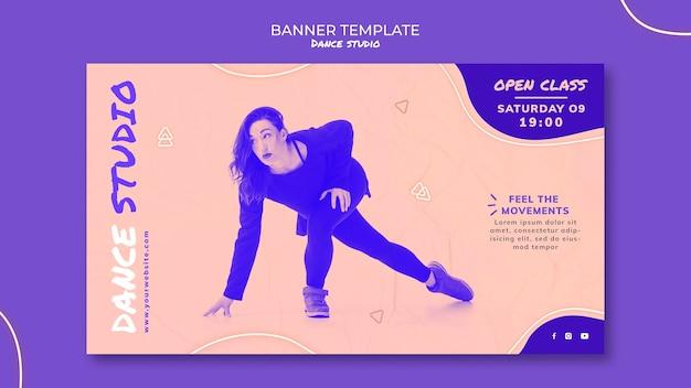 Tanzstudio banner mit foto