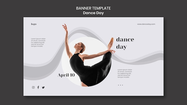 Tanztag banner vorlage Kostenlosen PSD