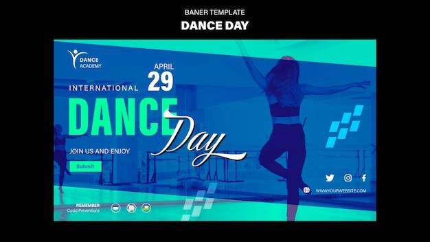 Tanztag banner vorlage