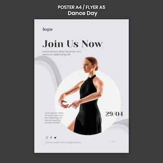 Tanztag poster vorlage