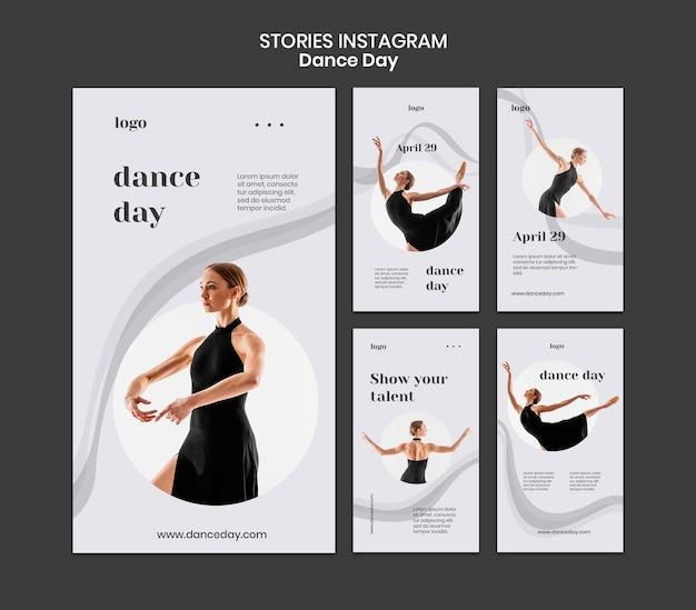Tanztag social media geschichten gesetzt