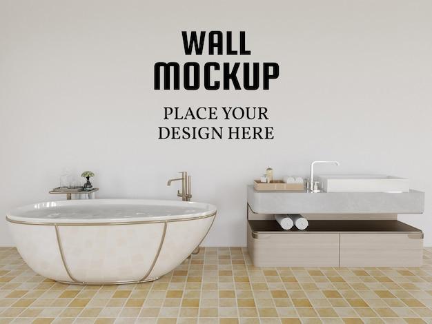 Tapetenmodell im modernen badezimmer