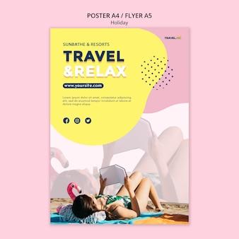 Tarvel und relax poster vorlage