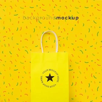 Tasche mit verkaufskampagnenentwurf