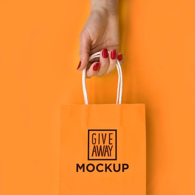 Tasche mit verkaufskampagnenmotiv