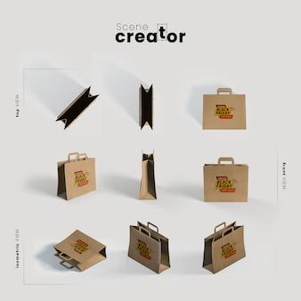 Taschen für schwarzen freitag verschiedene winkel für szenenbildner illustrationen