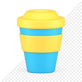 Tasse zum mitnehmen 3d-symbol