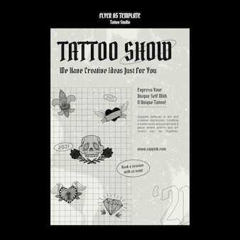 Tattoo-studio-poster-design-vorlage
