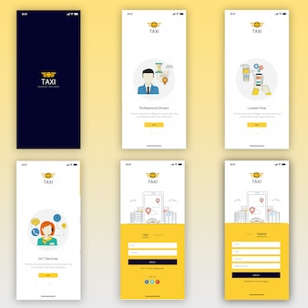 Taxi buchung mobile ui kit