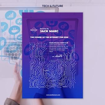 Tech & zukunftskonzept flyer