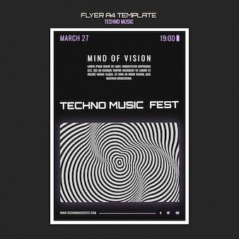 Techno musik fest flyer