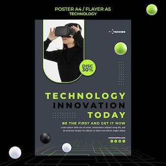 Technologie-innovationsplakatschablone