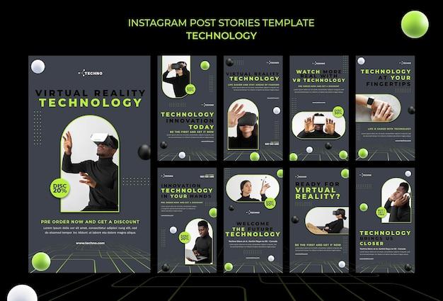 Technologie instagram geschichten vorlage