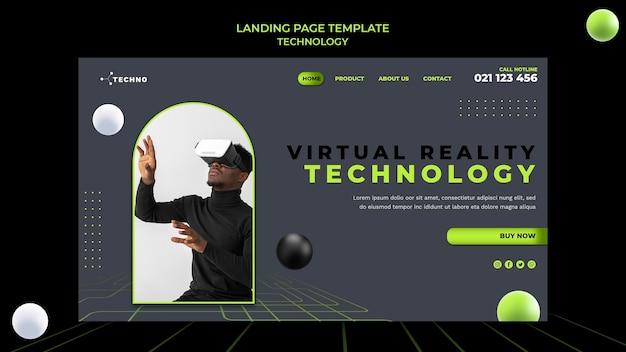 Technologie-landingpage-vorlage