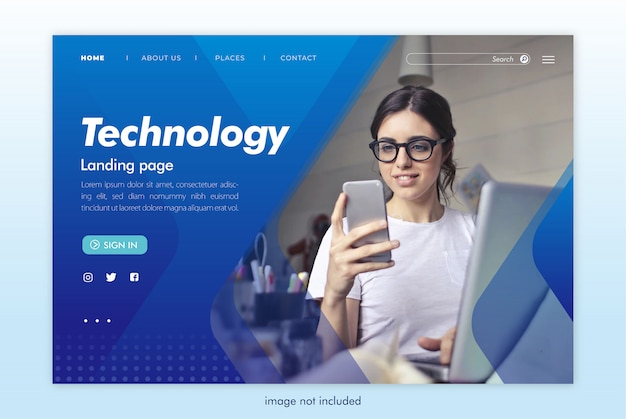 Technologie-landingpage-website-vorlage