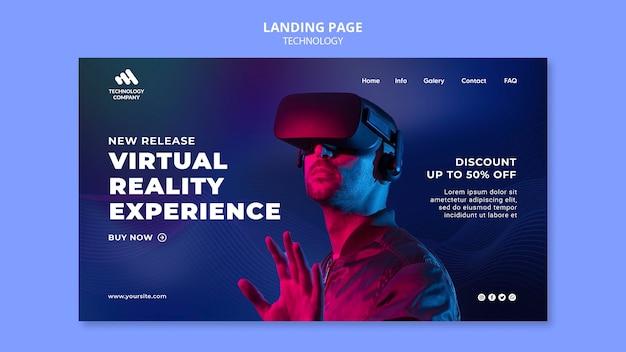 Technologie-landingpage