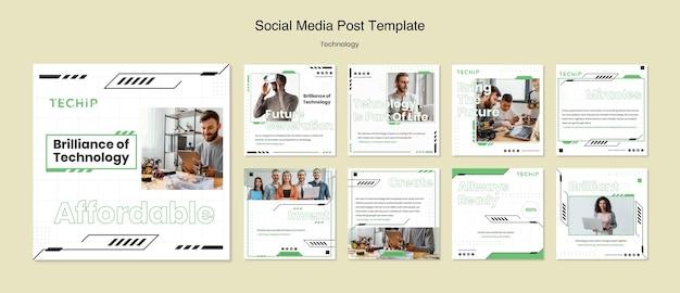 Technologie social media post