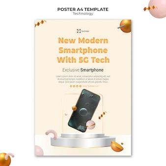 Technologiedruckvorlage mit foto