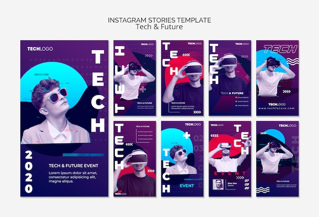 Technologiekonzept für instagram-geschichten