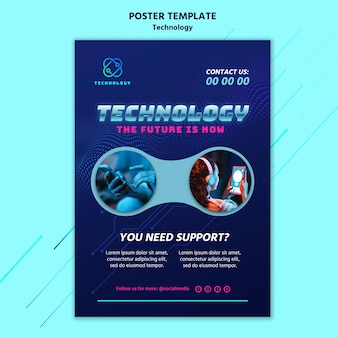 Technologieplakatschablone mit foto