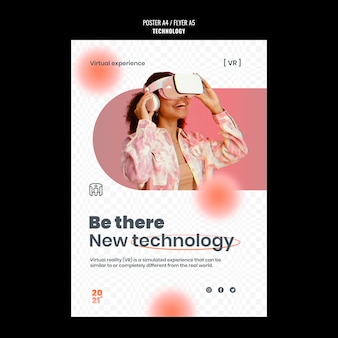 Technologieplakatschablone