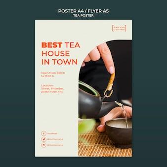 Teehausplakatschablone