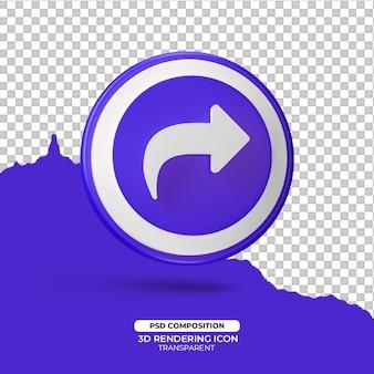 Teilen sie 3d-render-symbol-zeichen