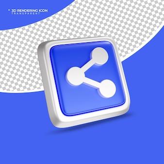 Teilen sie 3d-render-symbolzeichen oder -symbole