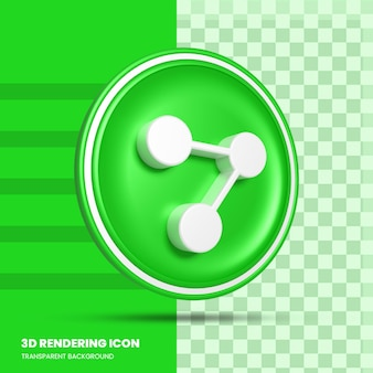 Teilen sie das 3d-rendering-symbol