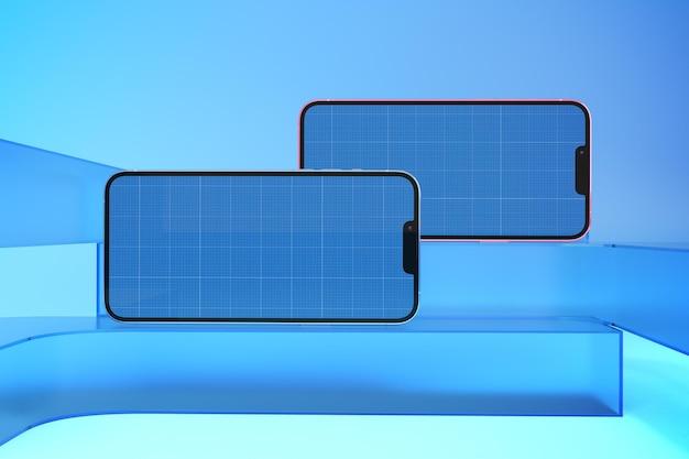 Telefon 13 auf glass