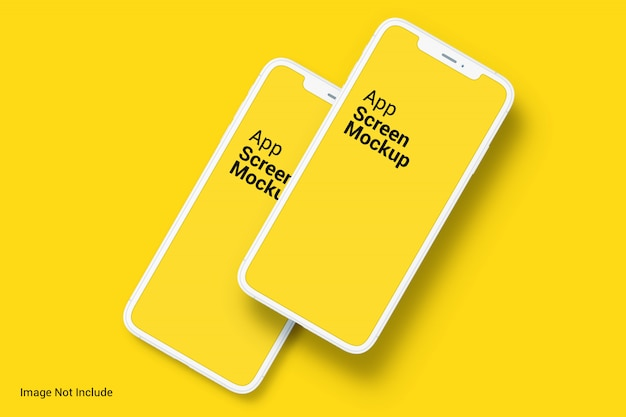 Telefon app bildschirm mockups