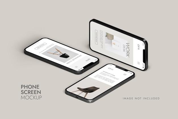 Telefon und bildschirm - ui-app-präsentationsmodell