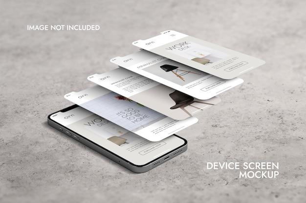 Telefon und bildschirm - ui ux app presentation mockup
