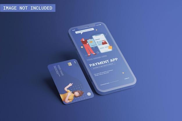 Telefon- und kreditkartenmodell