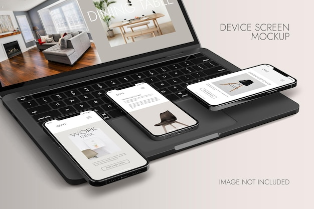 Telefon- und notebook-bildschirm - gerätemodell
