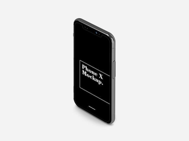 Telefon x auf weiß