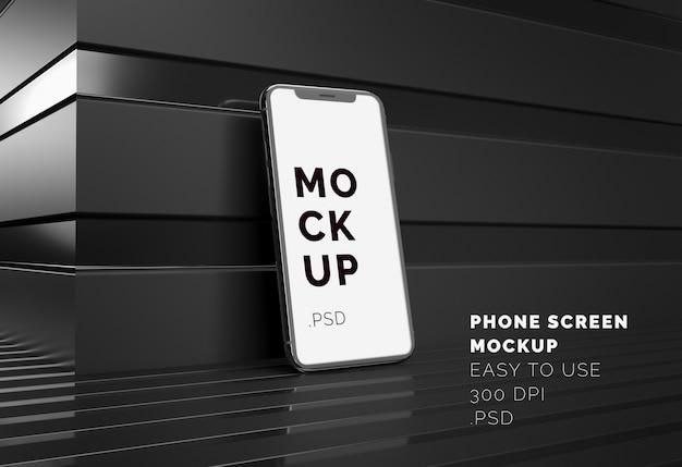 Telefonbildschirm mockup
